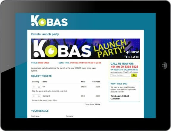 Kobas event page