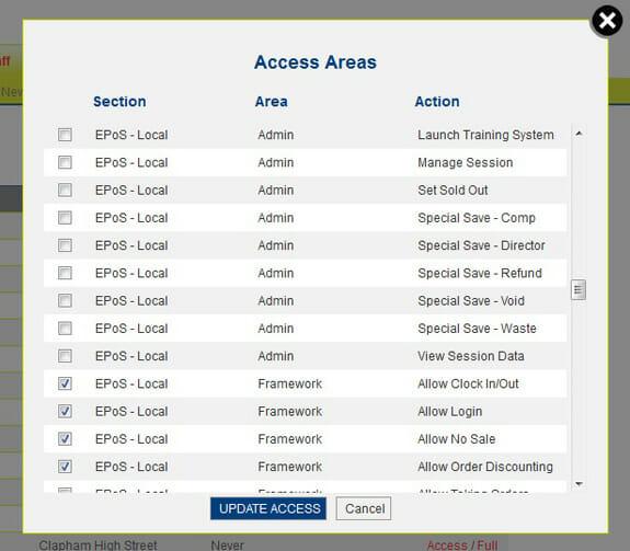 EPoS Access Controls